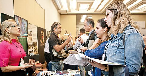 Exposição de fornecedores no Speed Meeting São Paulo