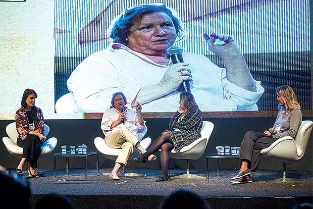 Painel Incentivo. Da esq. para dir. Gisele Abrahão, Judy Amar, Talita Poltronieri, Silvana Torres