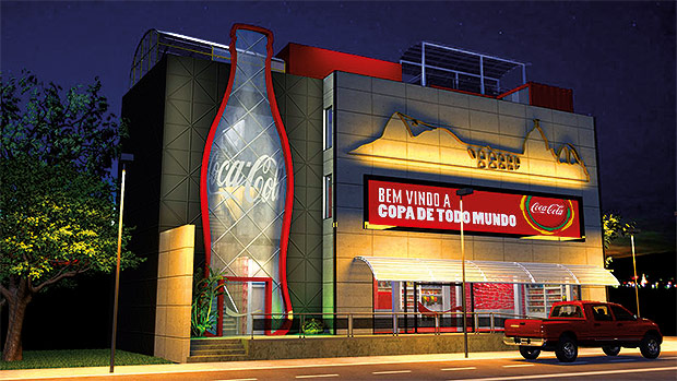 Marketing de Experiência da Casa Coca-Cola montada em frente ao Maracanâ - Copa do Mundo de 2014