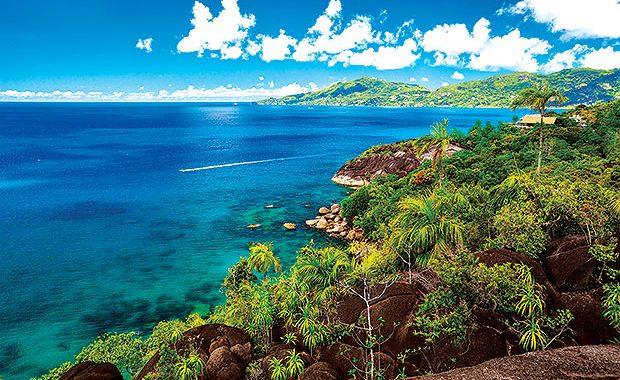 Ilha de Mahé em Seychelles