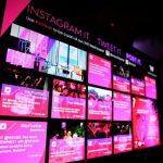 social media wall, redes sociais, eventos, engajamento